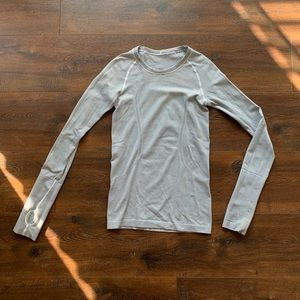 Black & White Striped Lululemon Long Sleeve Top